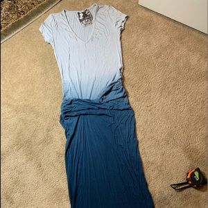 Long waist ruched tee dress Small